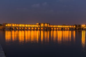 ancient khaju bridge pol e khaju in isfahan iran