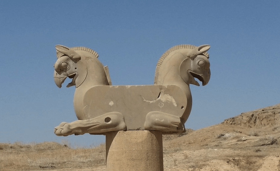 Persepolis Horse Statue Cyrus Travel Agency