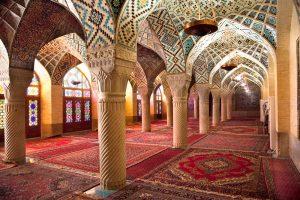 prayer hall of nasir al molk mosque iran