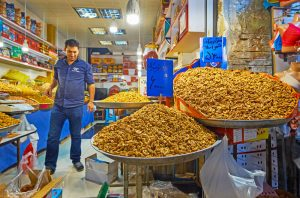 stall of nuts in tehran e