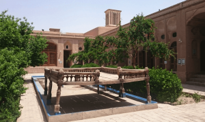 yazd courtyard