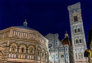 bapistry campanile bell tower florence italy