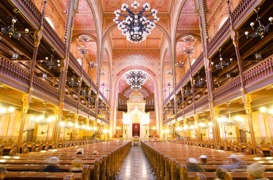 interior of the dohany st synagogue